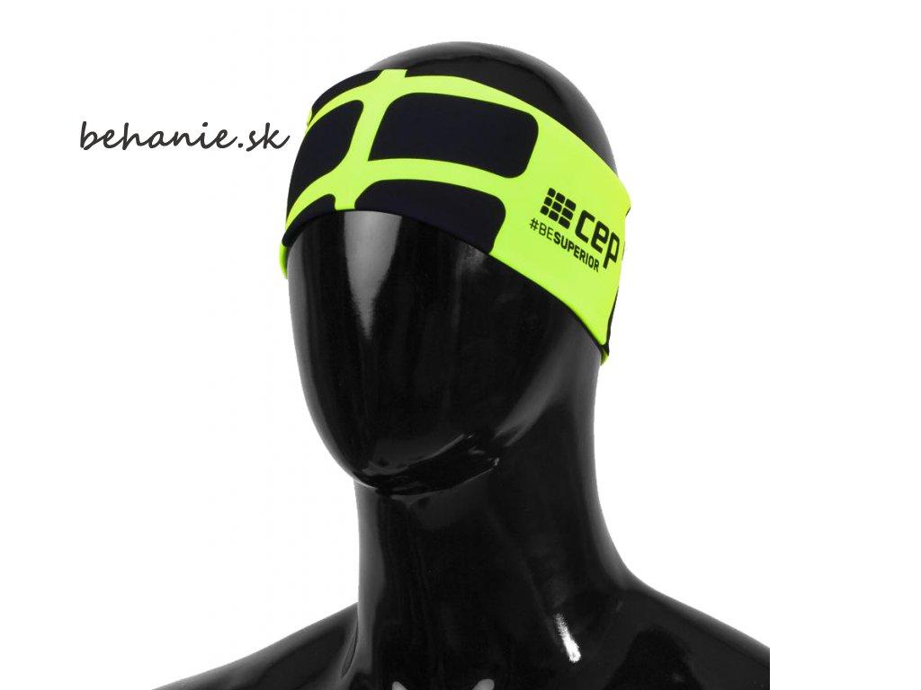 CEP běžecká čelenka - zelená fluo (Velikost S/M (51-56cm))
