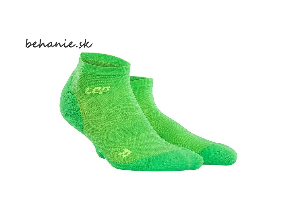 CEP pánské kotníkové běžecké kompresní ponožky ULTRALIGHT - viper / zelená (Velikost V (26,5 - 29 cm obvod kotníku))