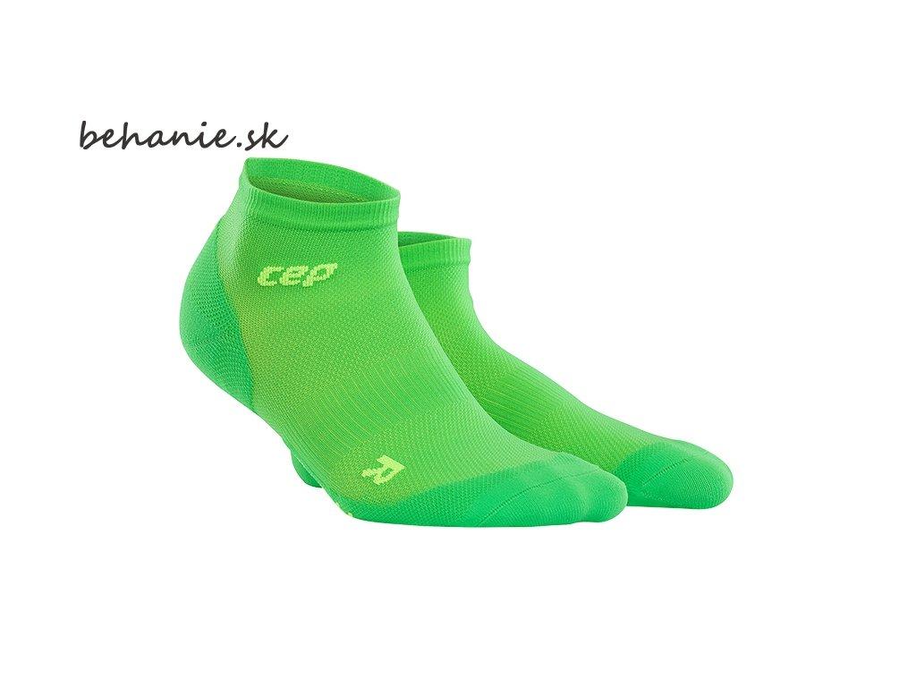 CEP dámské kotníkové běžecké kompresní ponožky ULTRALIGHT - viper / zelená (Velikost IV (23,5 - 26 cm obvod kotníku))