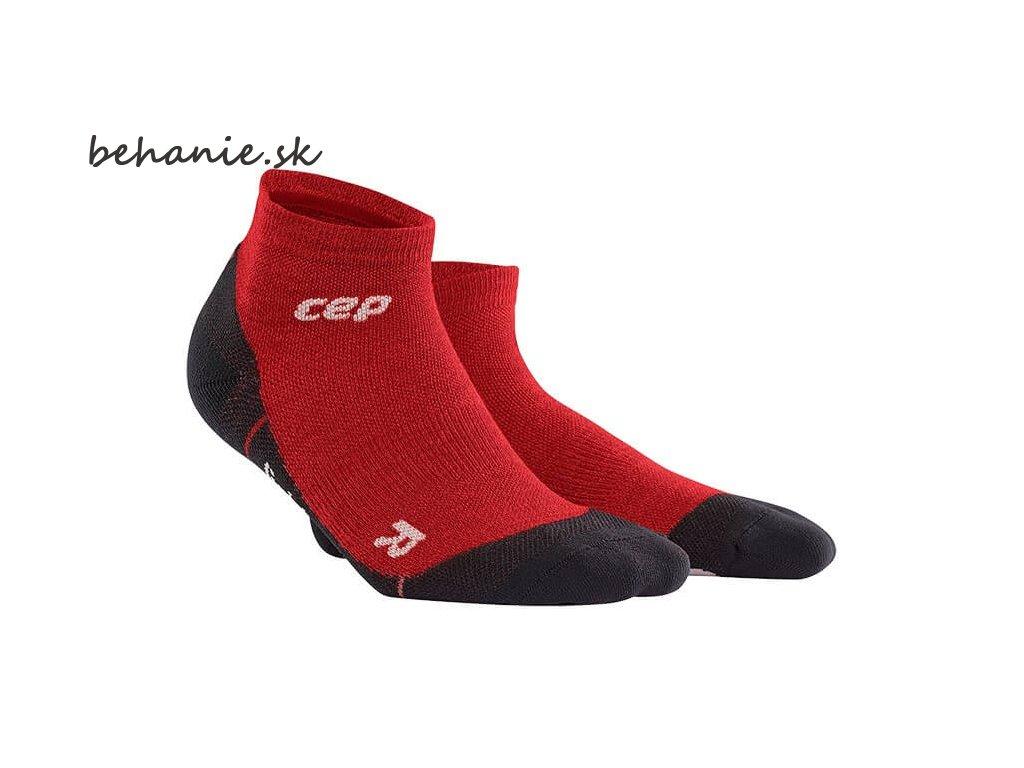 CEP pánské outdoorové kompresní kotníkové ponožky ULTRALIGHT MERINO - deep magma (Velikost V (45-50 cm obvod lýtka))