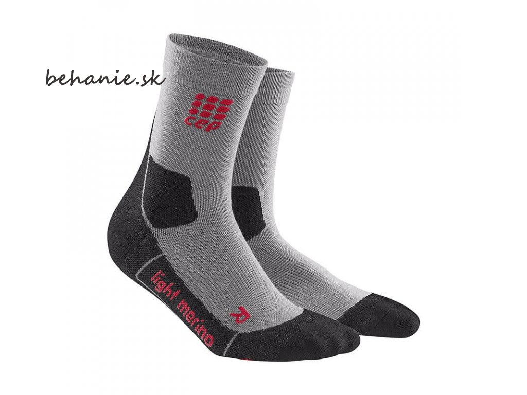 CEP pánské outdoorové ponožky ULTRALIGHT MERINO - volcanic dust (Velikost V (45-50 cm obvod lýtka))
