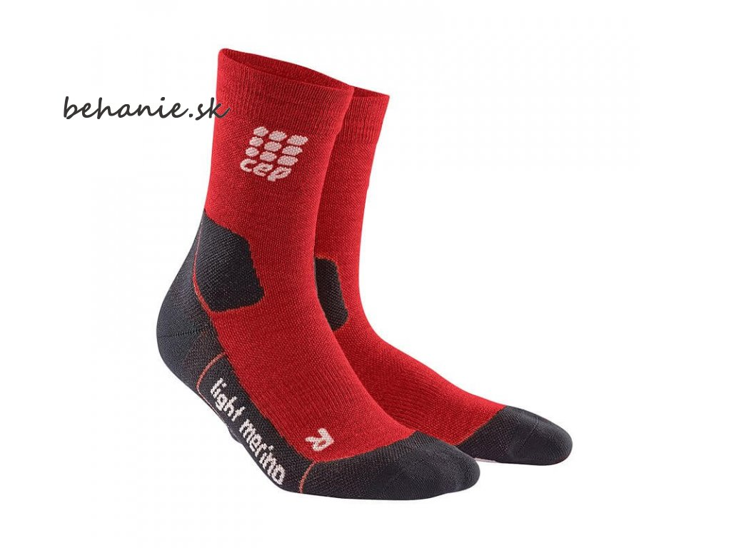 CEP pánské outdoorové ponožky ULTRALIGHT MERINO - deep magma (Velikost V (45-50 cm obvod lýtka))