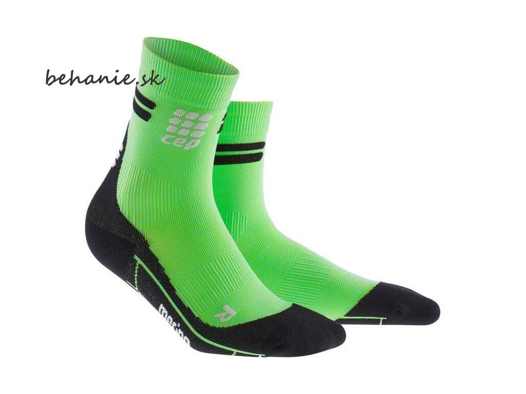 CEP dámske krátké bežecké kompresné ponožky MERINO - viper / čierna (Veľkosť IV (23,5-26 cm obvod kotníku))