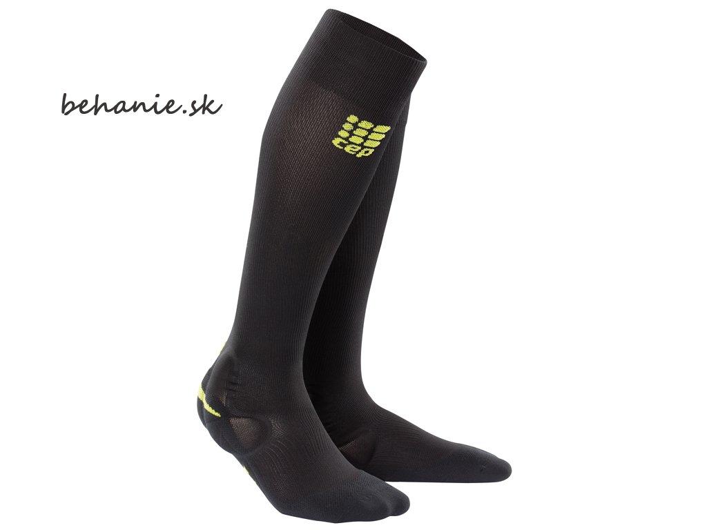 Ortho ankle support socks black green