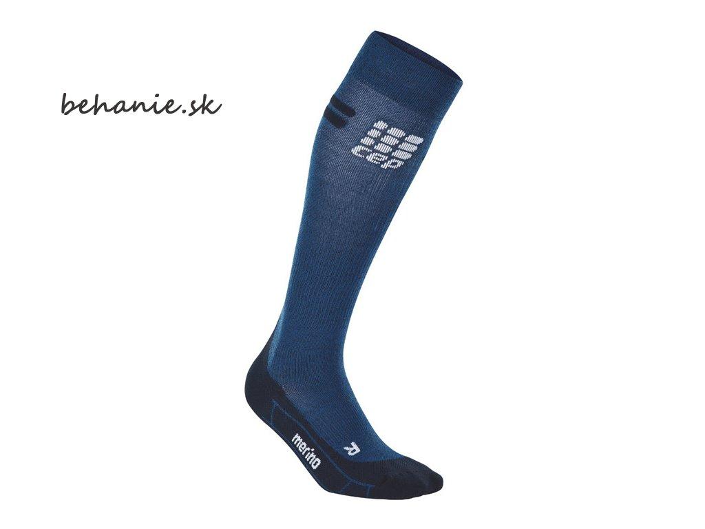 run merino socks navy black einzeln