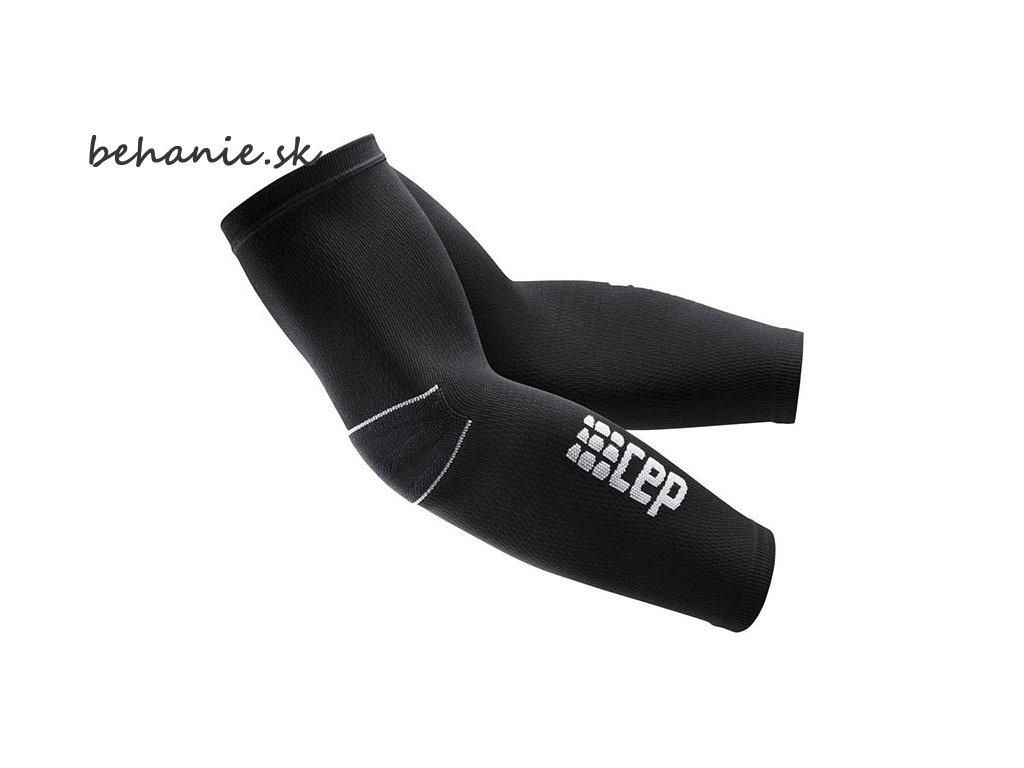 CEP unisexové pažní kompresné návleky - čierna / šedá (Veľkosť IV (32-36 cm obvod bicepsu, délka 48-56cm))