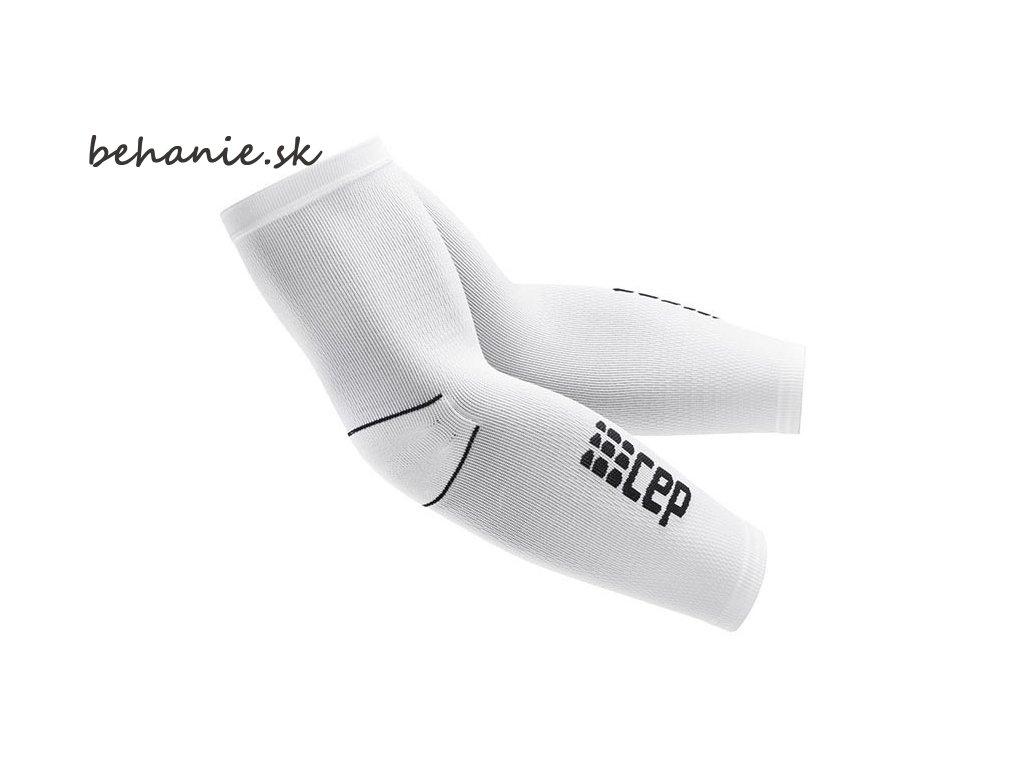 CEP unisexové pažní kompresné návleky - biela / čierna (Veľkosť IV (32-36 cm obvod bicepsu, délka 48-56cm))