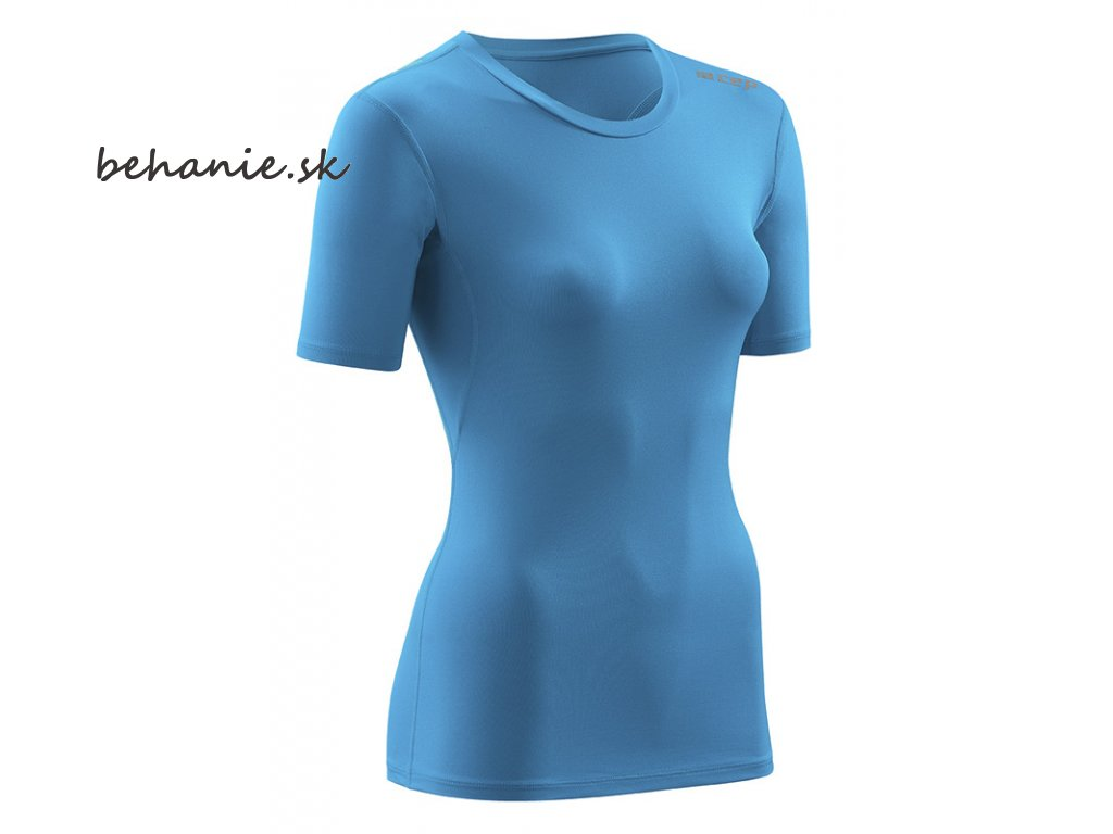 CEP wingtech shirt shortsleeve electricbluegreen W6FDN5 w front