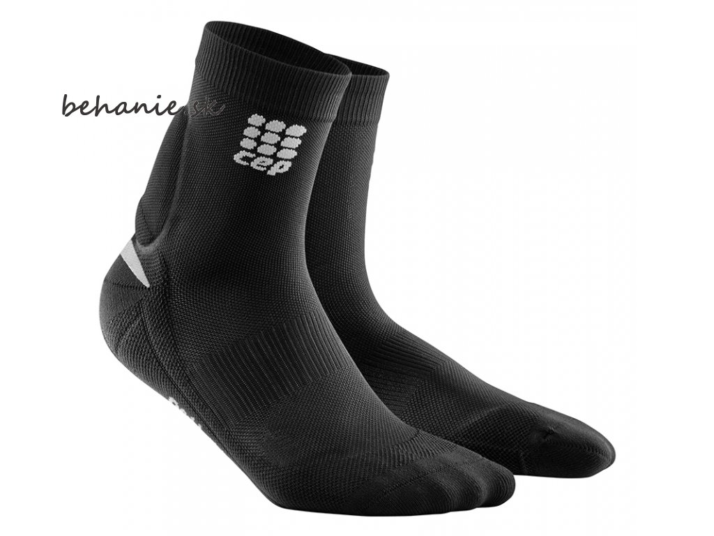 CEP Ortho Achilles Support Short Socks black grey WO4756 w WO5756 m pair