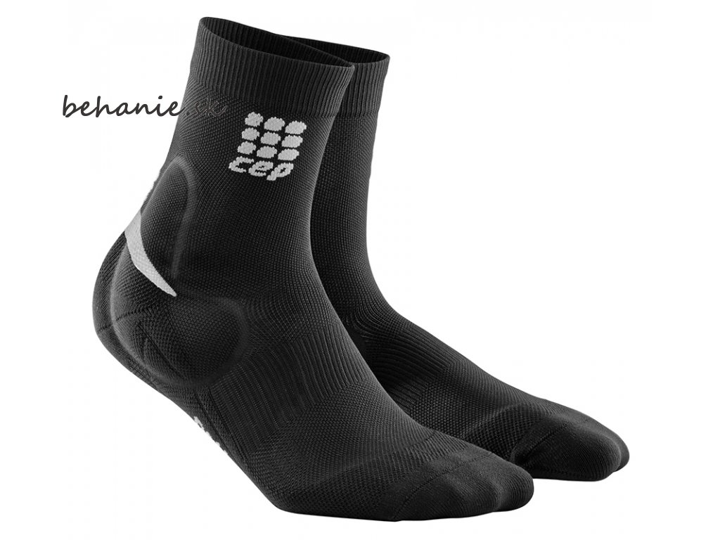 CEP Ortho Ankle Support Short Socks black grey WO4856 w WO5856 m pair