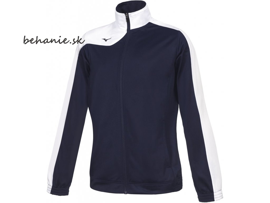 mizuno knitted tracksuit navy white 1