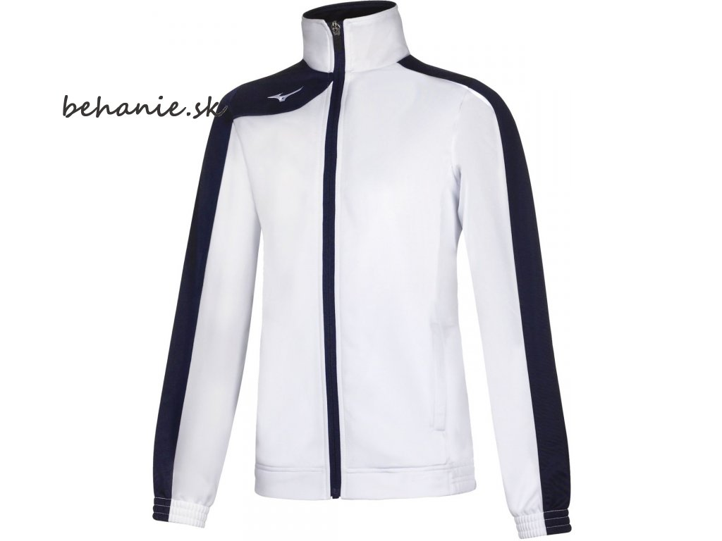 mizuno knitted tracksuit jr white navy