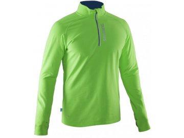 Bežecká bunda SALMING Run Halfzip LS Tee Men Gecko Green