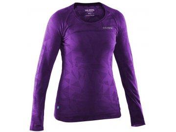 Bežecké tričko SALMING Running LS Top Women Purple