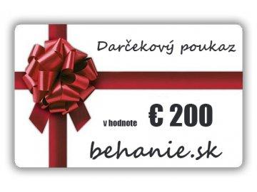 Darčekový poukaz v hodnotě €200