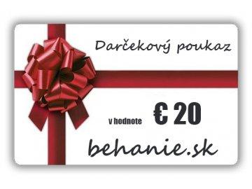Darčekový poukaz v hodnotě €20