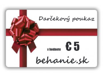 Darčekový poukaz v hodnotě €5