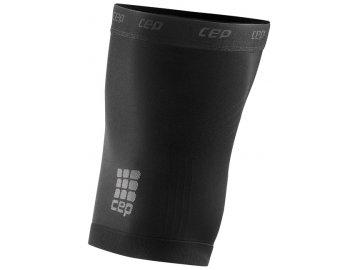 98610915b53 CEP unisexové běžecké kompresní stehenní návleky - černé (Velikost V (64-70  cm