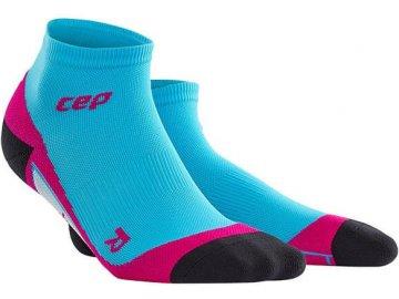 CEP dámské kotníkové běžecké kompresní ponožky - havajská modř   růžová  (Velikost IV (39 c272815c24