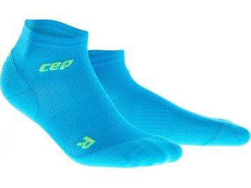 2e3548f1967 CEP dámske členkové bežecké kompresné ponožky ULTRALIGHT - elektrická modř    zelená (Veľkosť II (