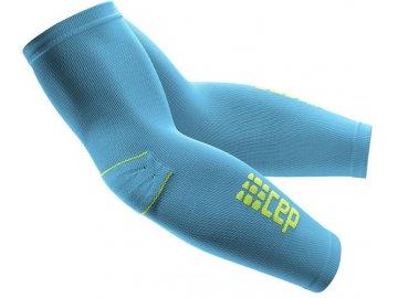 CEP unisexové pažní kompresné návleky - havajská modř / zelená (Veľkosť IV (32-36 cm obvod bicepsu, délka 48-56cm))