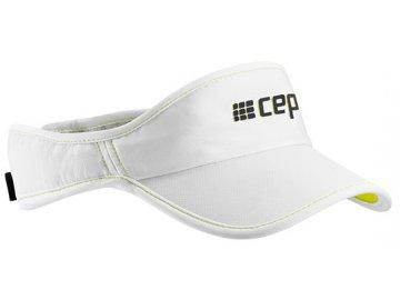 CEP brand collection run visor white limegreen uni WZ17T40