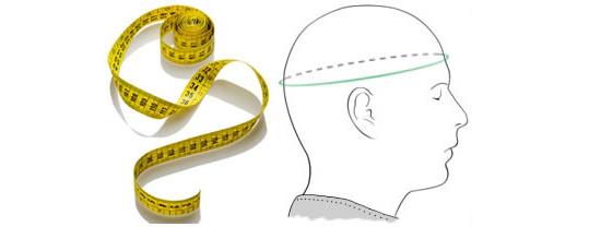 jak správně merit hlavu