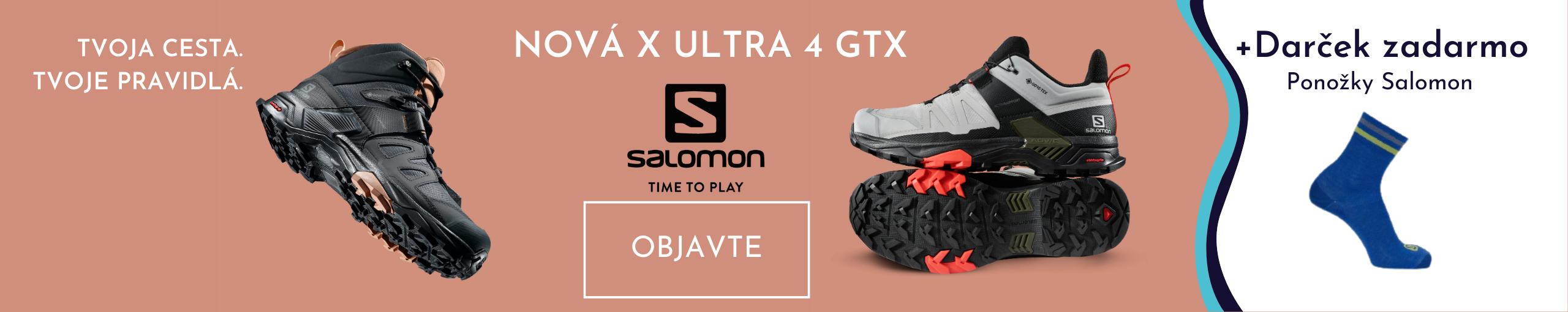 Salomon obuv X Ultra 4 GTX + ponozky Salomon zadarmo