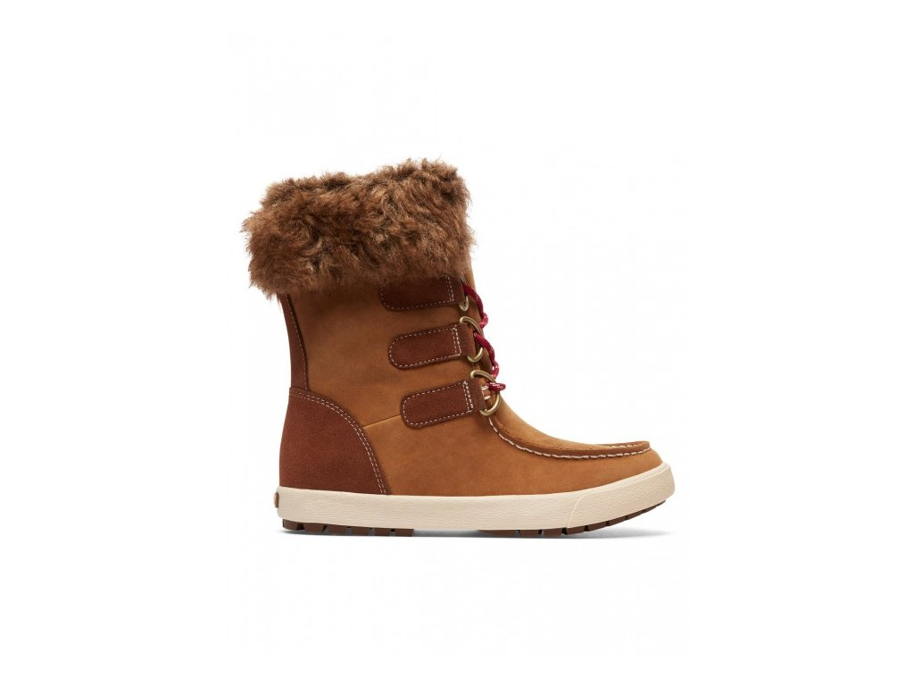 ROXY - čižmy RAINIER J BOOT brown 6