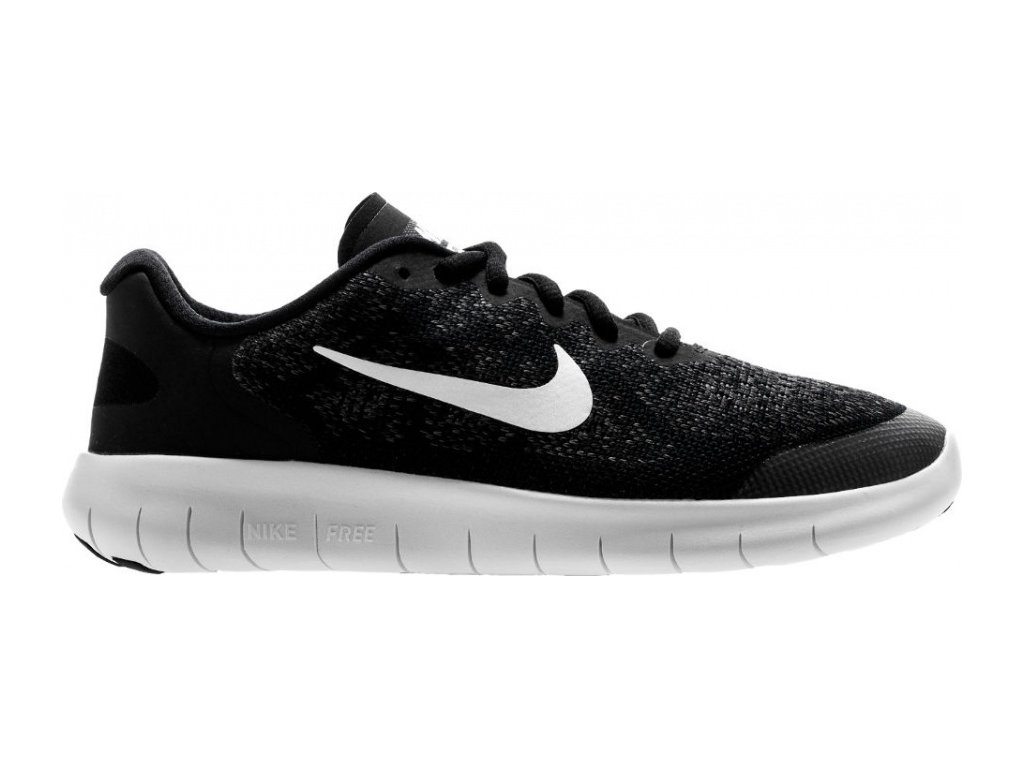 Nike  obuv FREE RN 2017 (GS) RUNNING SHOE black/white