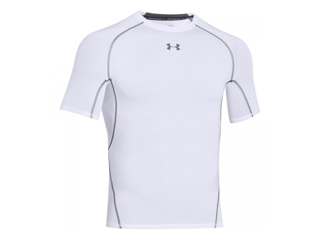 Under Armour - tričko KR UA HG ARMOUR SS white
