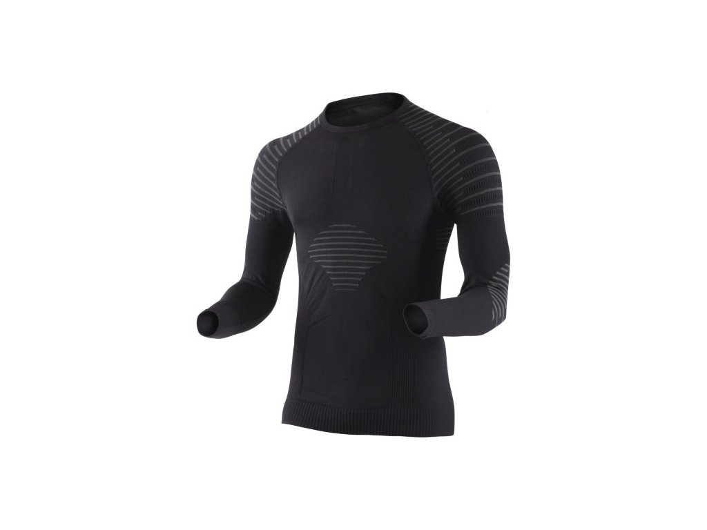 X-Bionic - tričko T Man Invent Shirt Long Sleeve black/anthracite