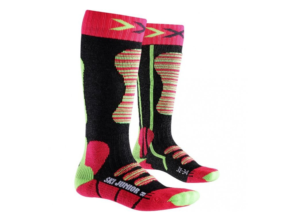 X-Bionic - ponožky T X-SOCKS SKI JUNIOR fuchsia/yellow