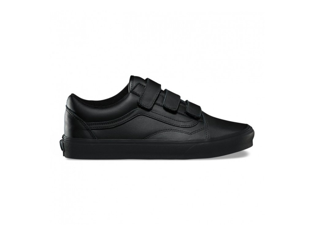 VANS  obuv  OLD SKOOL V (MONO LEATHER) BLACK