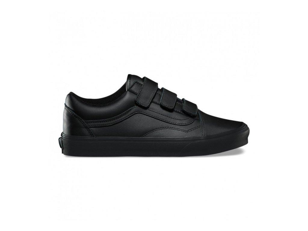 VANS - obuv STR OLD SKOOL V (MONO LEATHER) BLACK