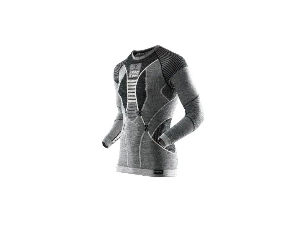 X-Bionic - tričko T Apani Merino MAN grey/white