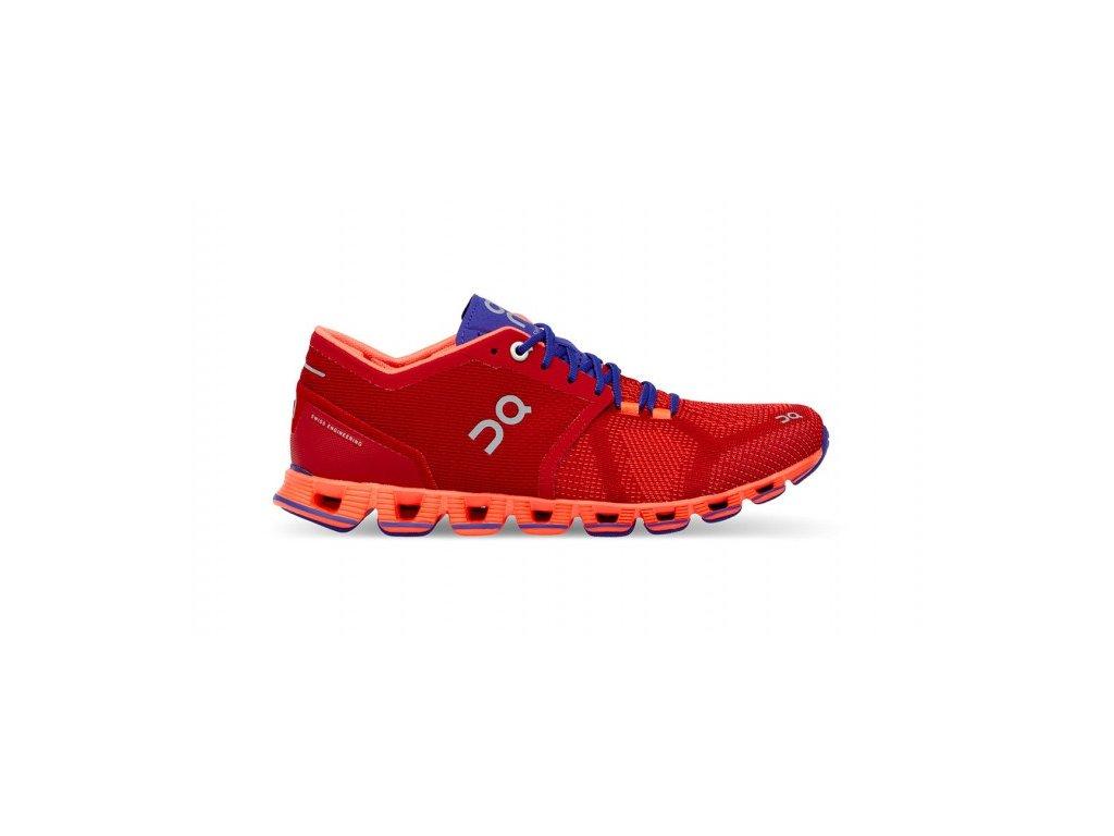 On Running obuv CLOUD X red/flash