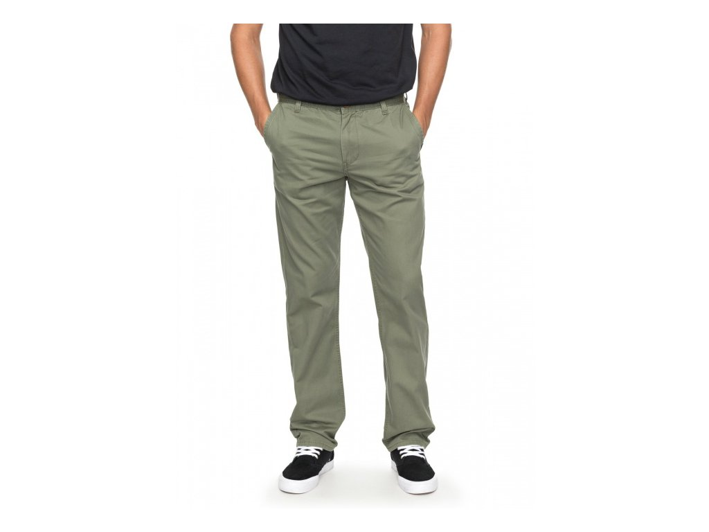 QUIKSILVER - nohavice  EVERYDAY CHINO LIGHT four leaf clover