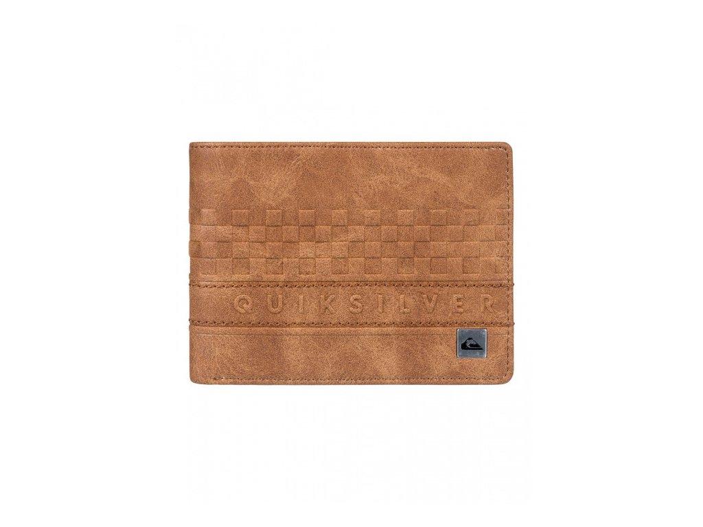 QUIKSILVER - peňaženka EVERYDAY STRIPE WALLET II tobacco brown