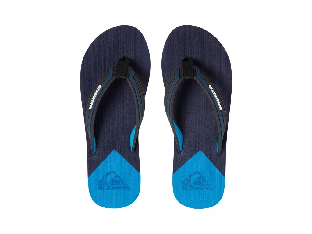 QUIKSILVER - šlapky MOLOKAI NEW WAVE DELUXE YOUTH black/blue/blue