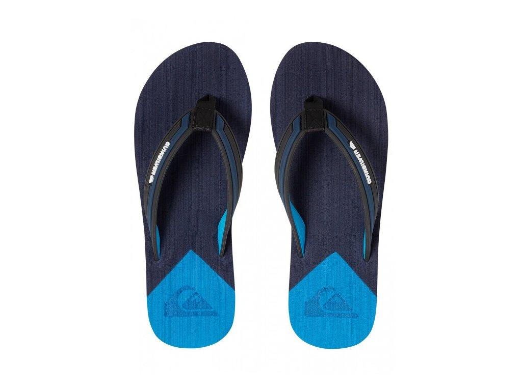 Quiksilver - šlapky MOLOKAI NEW WAVE DELUXE YOUTH black/blue/blue