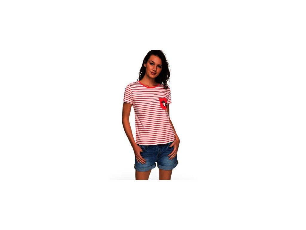 Roxy - tričko KR BAHAMAS COTTAGE A rouge red