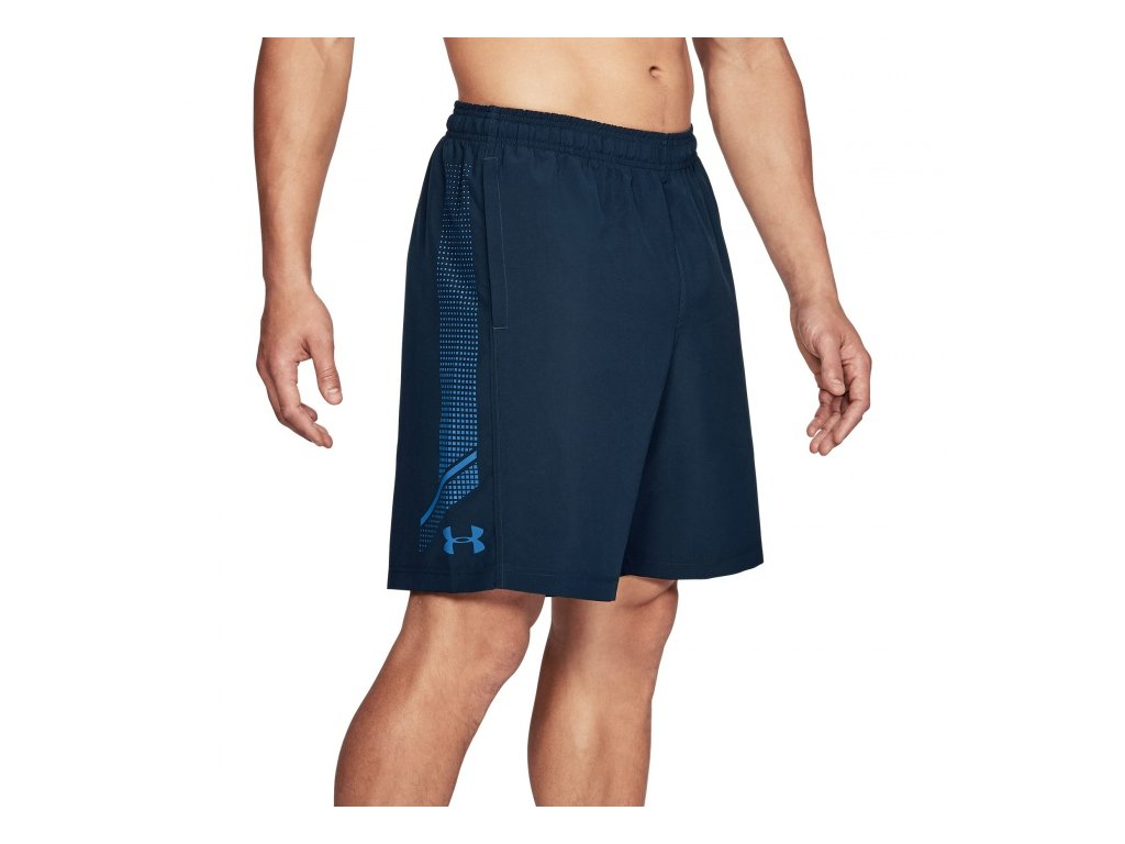 Under Armour - šortky WOVEN GRAPHIC SHORT Mediterranean
