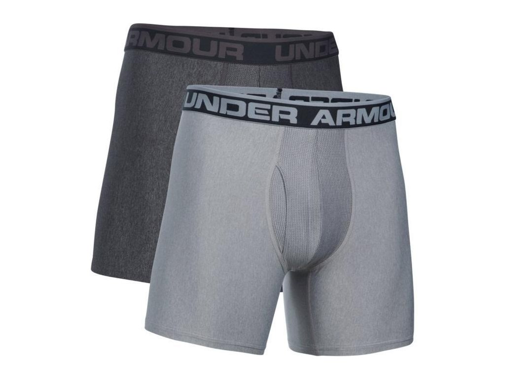 Under Armour - boxerky O-SERIES 6 IN BOXERJOCK 2PK True Gray Heather