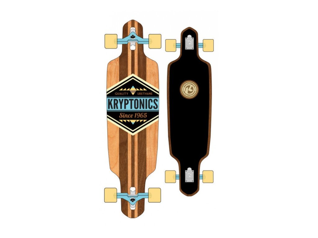 "KRYPTONICS - longboard CHEROKEE 38"" brown/blk"