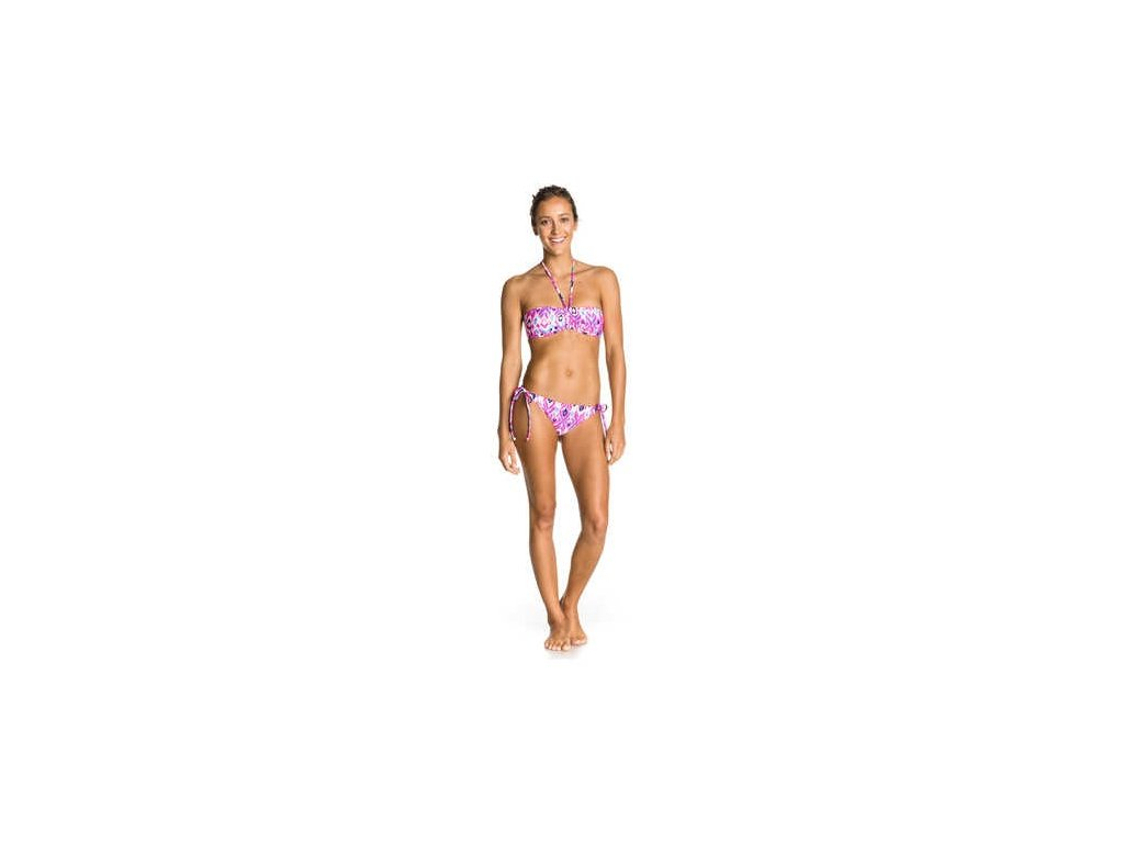 Roxy plavky Bandeau/70s J pink colorful