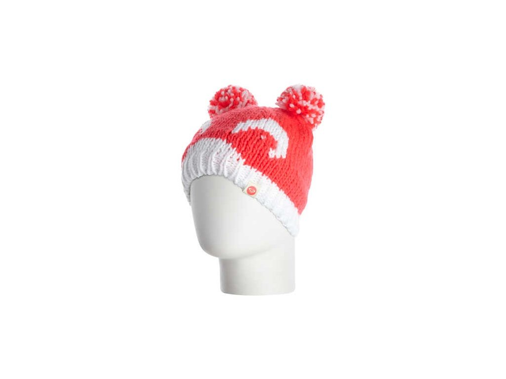 ROXY - čiapka SNOW CREEK K Červena, biela