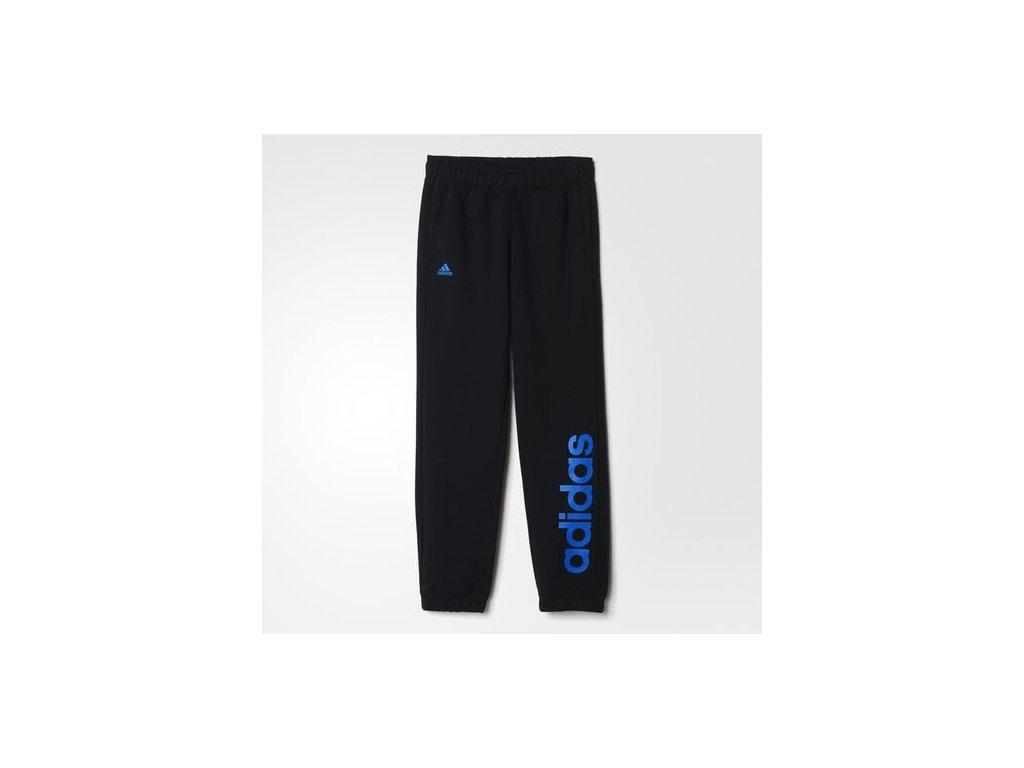 Adidas  tepláky YB ESS LIN BRPC      black/blue