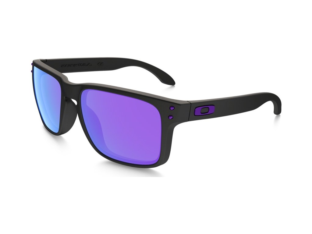 Oakley - okuliare F HOLBROOK OO9102-26 Matte Black/ Violet Iridium Julian Wilson Signature