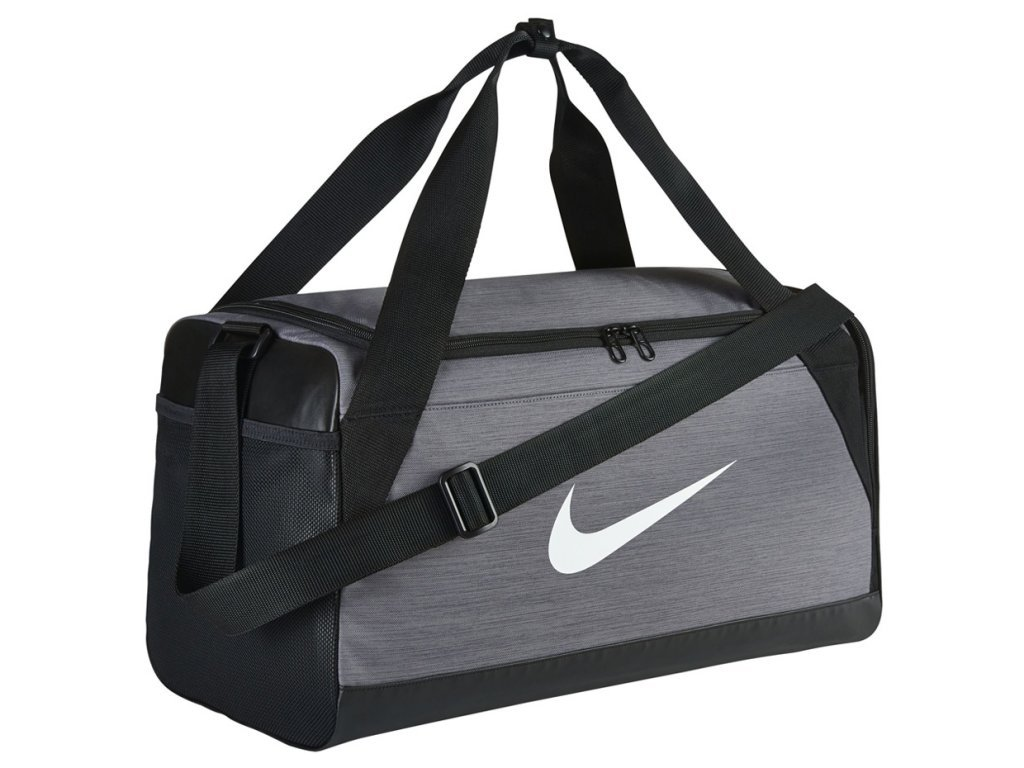 Nike taška Brasilia Training Duffel Bag flint grey/black